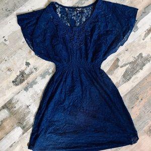 Gorgeous navy lace mini dress size small